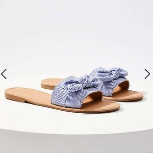 NWT Loft Refined Slide Bow Sandal